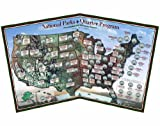 National Parks 56-coin Quarter Map - Made in USA