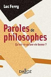 Paroles de philosophes