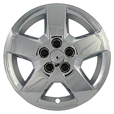 "2007, 2008, 2009, 2010, 2011, 2012 CHEVY HHR CHROME FACTORY REPLICA ""BOLT-ON"" WHEEL COVERS / HUBCAPS (Set of 4) - 16"""