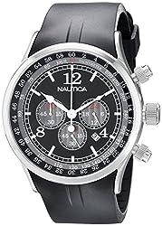 Nautica Chronograph Black Dial Mens Watch - N13530G