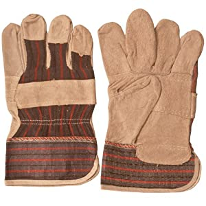 12 Pairs of Double Palm Leather Work Gloves, Heavy Duty Gloves
