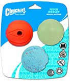 Chuckit Fetch Medley 3 Pack Assorted Medium 6.5cm