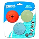 Chuckit! Medium Fetch Medley Balls 2.5-Inch, 3-Pack