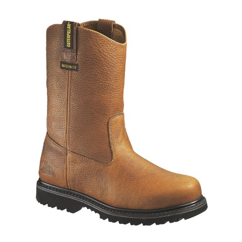 Caterpillar Men's Edgework Pull-On Waterproof Steel Boot,Mahogany,12 W US