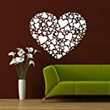 Love Heart Modern Wall Transfer / Removable Wall Graphic / Interior Decor LO9