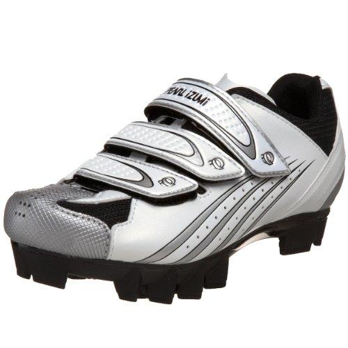 Pearl iZUMi Women's Select MTB Cycling Shoe,White/Silver,39 M EU / US Women's 7 M