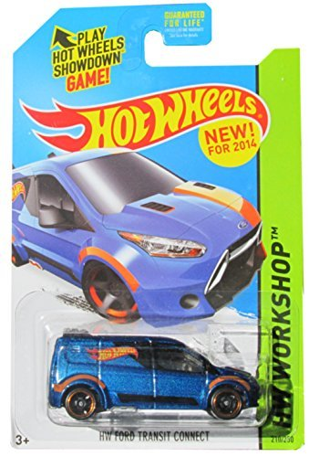 2014 Hot Wheels Hw Workshop - Hw Ford Transit Connect by Mattel - 1