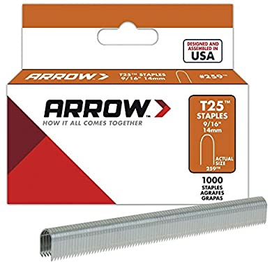Arrow Fastener 9/16in. T25 Round Crown Staple 1,000 Pieces