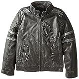 Urban Republic Big Boys 2-Tone Faux Leather Biker Jacket