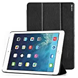 Apple iPad Air 2 Case - Poetic Apple iPad Air 2 Case [Slimline Series] - PU Leather Trifold Cover Case for Apple iPad Air 2 (2014) Black (3-Year Manufacturer Warranty From Poetic)