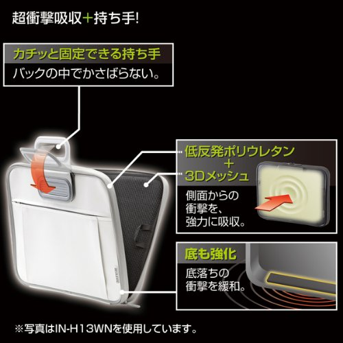 サンワサプライ 衝撃吸収インナーケース 15.6型ワイドブラック IN-H16BKN