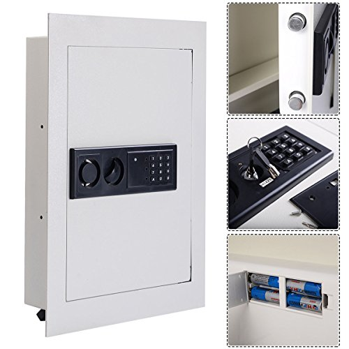 0.8CF Digital Flat Recessed Wall Safe Home Security Lock Gun Cash Box Electronic (Tamperproof Dispenser compare prices)