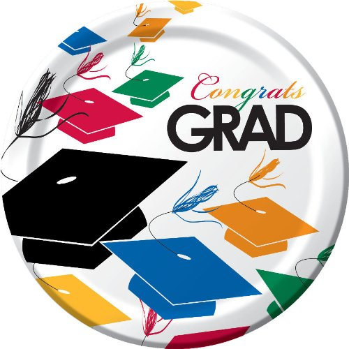 Creative Converting 8 Count Graduation Toss Paper Dinner Plates