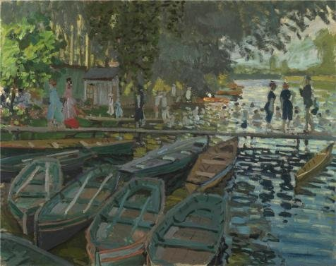 Oil Painting 'Claude-Oscar Monet - Bathers At La Grenouillere,1869' Printing On Perfect Effect Canvas , 20x25 Inch / 51x64 Cm ,the Best Gym Gallery Art And Home Decor And Gifts Is This Imitations Art DecorativeCanvas Prints (Fall At Your Feet Live compare prices)