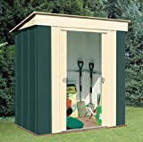 Canberra 'Six' - High Quality Pent Metal Steel Garden Shed with Roof Size of 6ft x 4ft (184 x 123cm)