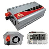 SUNGOLDPOWER 1000W 12V DC to 110V AC Car Power Inverter Converter Car Cigarette Lighter Modified Sine Wave With USB Port Battery Cables And Clips Built-In Fan (1000W)