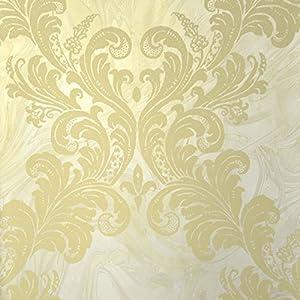 Astek Wallpaper MC41103 Como Wallpaper /Gold/Light Gray/Medium Gray