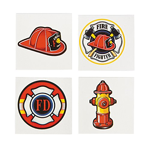 Firefighter Tattoos - 72 pcs - 1
