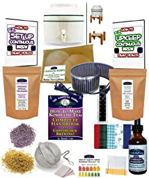 KKamp Continuous Brew Kombucha COMPLETE PACKAGE - Green Stripe w/ Stand + Essential Heat Strip