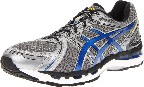 ASICS ASICS Men's GEL-Kayano 19 Running Shoe,Titanium/Royal/Black,11 M US