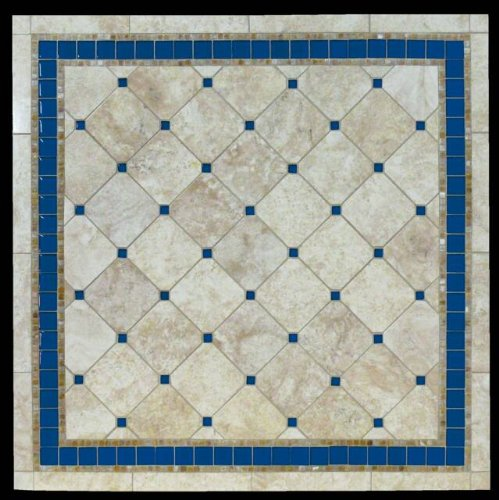 Best buy azul natural mosaic stone table top 48 quot x 84 quot rectangle