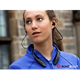 SwageU EVO Bluetooth Headphones - Curved design provides a comfortable & weightless fit - Longer Battery Life - Up to 12 hours of music listening - Wireless Headset for Music and Phone Calls - 1 Year Warranty From Rokit Boost