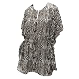 La Leela White Brown Animal Skin Printed Beach Cover Up