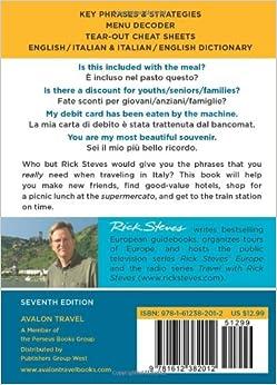 Rick Steves Italian Phrase Book