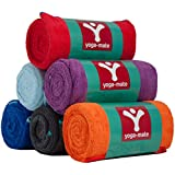 Bikram Yoga Towel by Yoga Mate (Buy 2 or More & Get 10% OFF) - The Best Skidless Microfiber Towels for Hot Yoga, Pilates, Sports, Beach and More! Ultra Absorbent - 100% Satisfaction, Money-Back Guarantee!