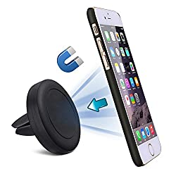 SGM Car Mobile Holder, SGM® Universal Magnetic Air Vent Car Mount Mobile Holder Craddle for iPhone and all Android Phones(Black)