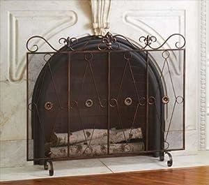 Amazon.com - Antique Bronze Fleur de Lis Fireplace Screen.