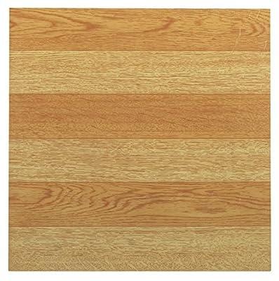 Achim Home Furnishings FTVWD21445 Tivoli Self Adhesive Vinyl Tiles, 12 x 12-Inches, Light Oak, 45 Pack