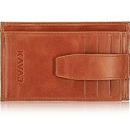 KAVAJ Munich Men\'s Genuine Leather Wallet, cognac-brown