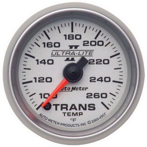 "Auto Meter 4957 Ultra-Lite Ii 2-1/16"" 100-260 F Full Sweep Electric Transmission Temperature Gauge"