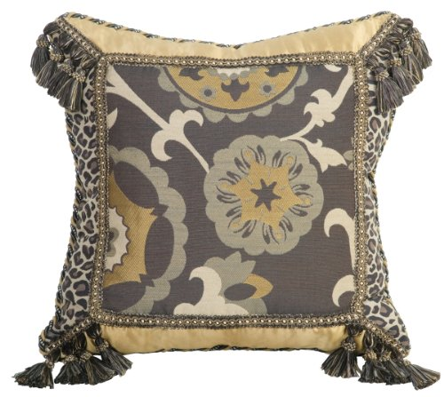 Jennifer Taylor Espresso Collection Pillow, 20-Inch by 20-Inch