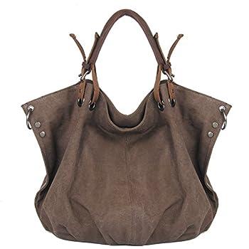 Winkine Vintage Hobo Canvas Tote Bags - Designer Inspired Satchel Handbags / Shoulder Bag - Large Size