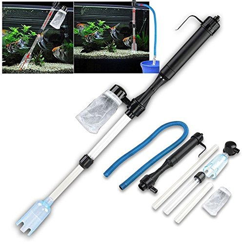 Battery-Powered Gravel Cleaner Aquarium Fish Tank Siphon Vacuum Water Change by Filter (Battery Powered Aquarium Filter compare prices)