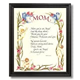 Motivational Poem Mom Mother Flower Wall Picture Black Framed Art Print