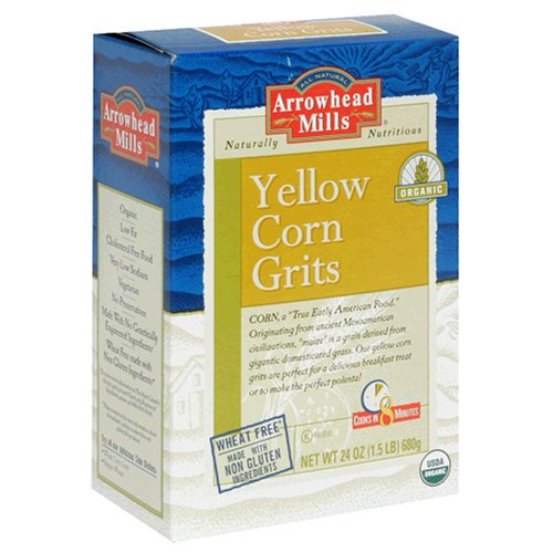 Buy Arrowhead Mills Organic Yellow Corn Grits, 24-Ounce Box (Pack of 4) (Arrowhead Mills, Health & Personal Care, Products, Food & Snacks, Breakfast Foods, Cereals)