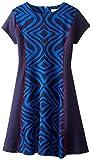 kc parker Big Girls' Printed Knit Ponte Dress