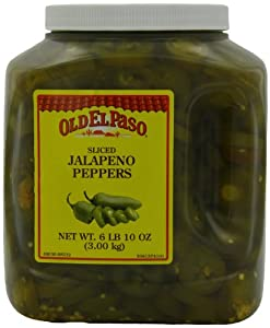 Old El Paso Jalapeno Peppers, Sliced, 106-Ounce Jug