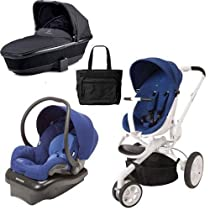 Big Sale Quinny Moodd Blue Defiance - Mico AP Blue - Tukk Bassinet Black and Diaper Bag