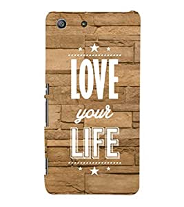 EPICCASE love your life Mobile Back Case Cover For Sony Xperia M5 (Designer Case)