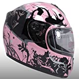 Pink Japanese Style Graphic Motorcycle Full Face Helmet DOT