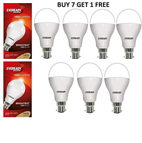 14W LED Bulbs (White, Pack of 7)