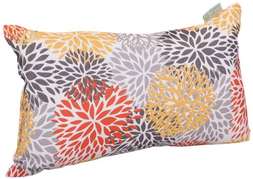 Majestic Home Goods Blooms Pillow, Small, Citrus front-638842