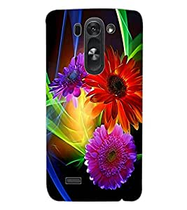 ColourCraft Flowers Design Back Case Cover for LG G3 BEAT