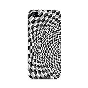 Rayite Illusion Checks Premium Printed Case For Apple iPhone 5/5s