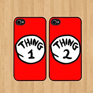 Red Thing 1 Dr Seuss Best Friends iphone 5 Case Soft Rubber - Set of