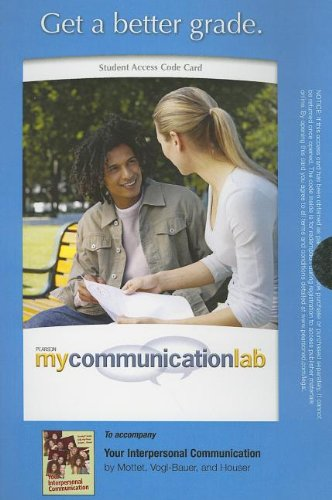 MyCommunicationLab without Pearson eText -- Standalone Access Card -- for Your Interpersonal Communication